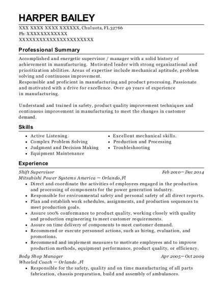 Best Body Shop Manager Resumes | ResumeHelp