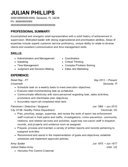 julian phillips - Resume For Army Soldier