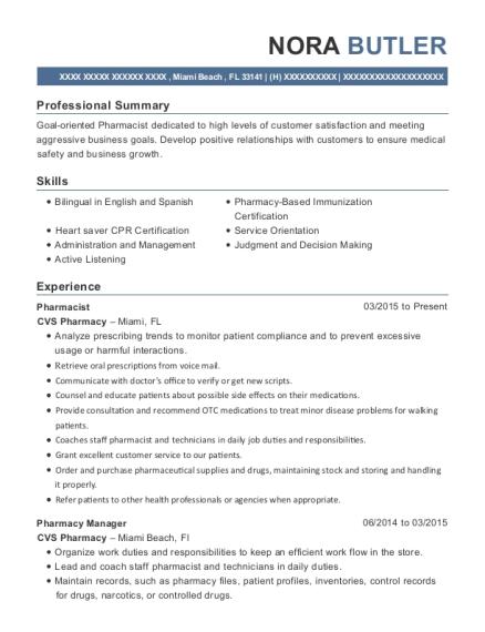 Best Pharmacist Intern Resumes | ResumeHelp