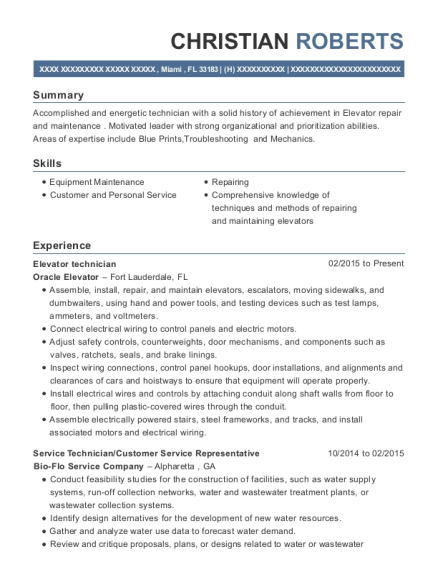 view resume - Wastewater Technician Resume Sample