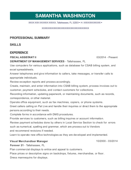fiscal assistant sample resume top 8 fiscal assistant resume