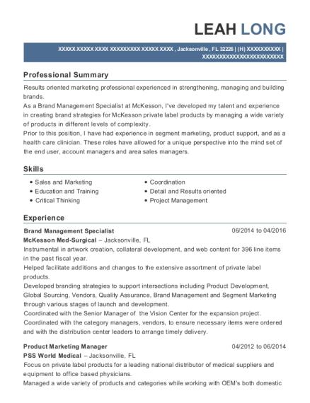 Best Brand Management Specialist Resumes   ResumeHelp