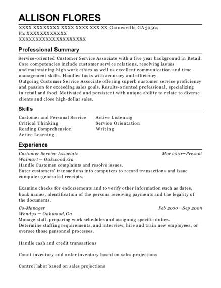 walmart co manager resume sample