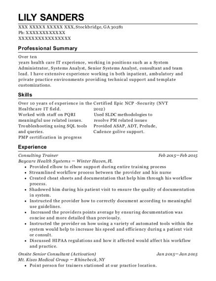 best senior systems analyst resumes resumehelp