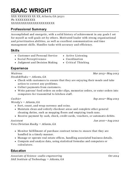 Best Executive Administrative Assistant Resumes in Atlanta Georgia ...