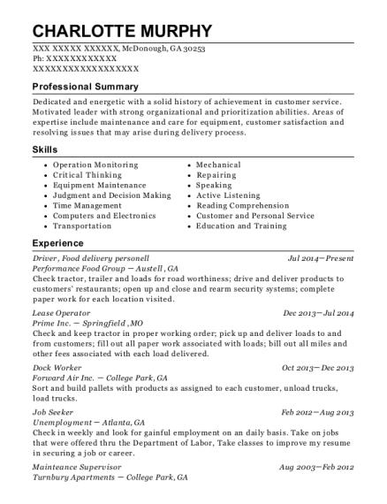 process operator resume