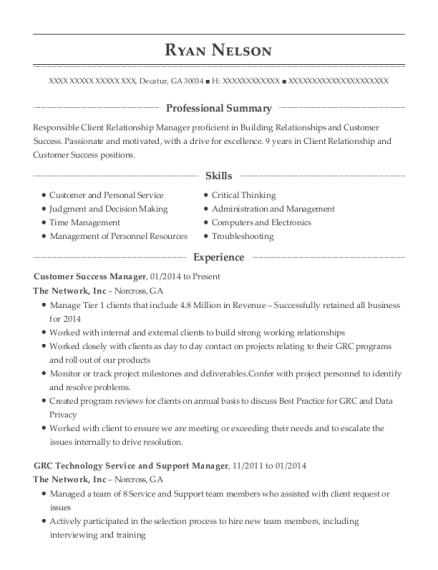 best customer success manager resumes resumehelp