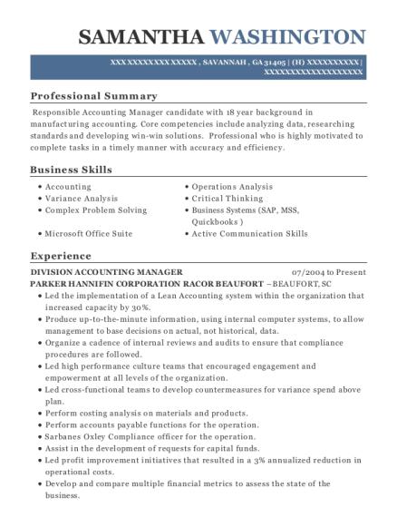 Best Plant Accountant Resumes | ResumeHelp