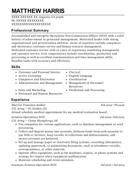 Best Aviation Operations Specialist Resumes | ResumeHelp