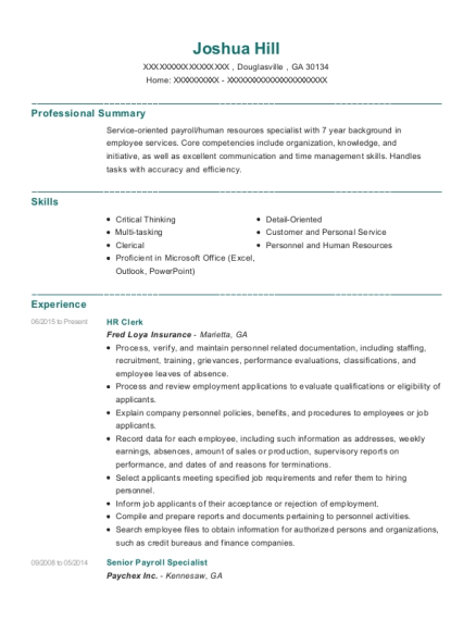 best senior payroll specialist resumes resumehelp