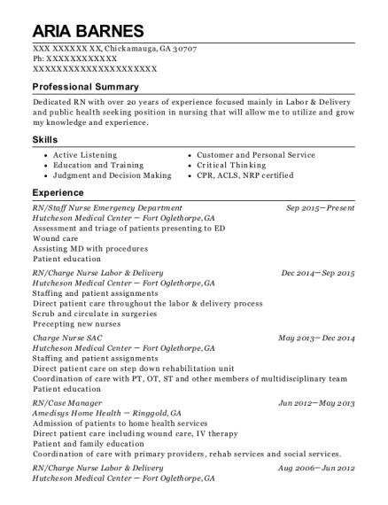 Best Charge Nurse Labor & Delivery Resumes | ResumeHelp