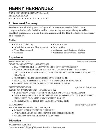 best shift supervisors resumes resumehelp