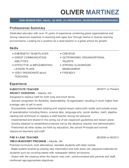 Best Pre K Lead & Kindergarten Teacher Resumes | ResumeHelp