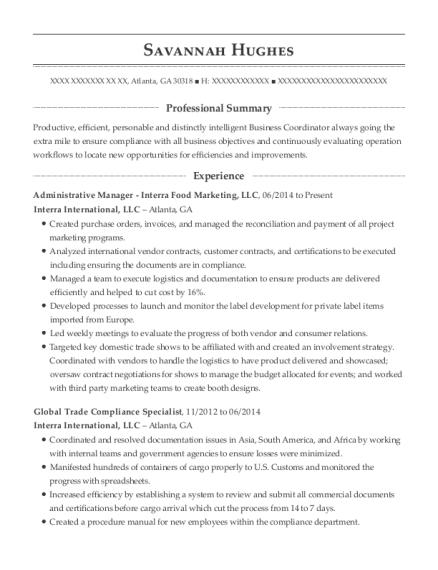 Global Trade Compliance Specialist , Customs Compliance Associate.  Customize Resume · View Resume