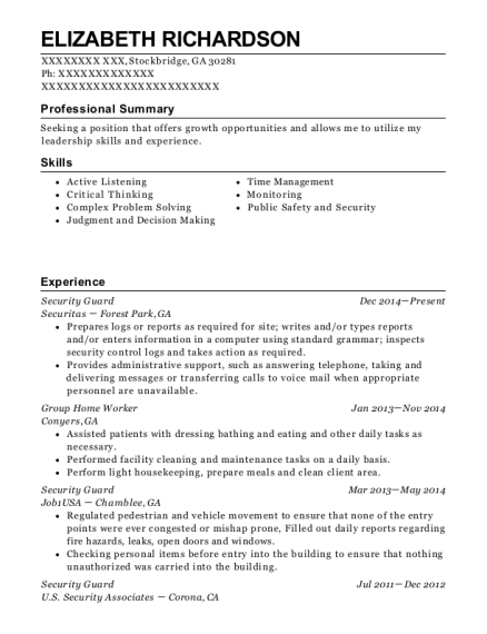 Group Home Worker Resume Images - resume format examples 2018