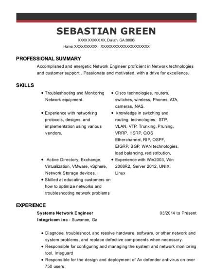 best cisco network support engineer resumes resumehelp