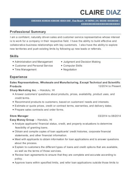 comcast sales representative resume sample