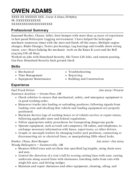 jerry ritter trucking truck driver resume sample