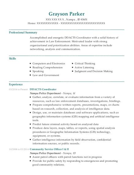 view resume - Police Volunteer Sample Resume