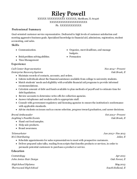 riley powell - Brand Ambassador Resume