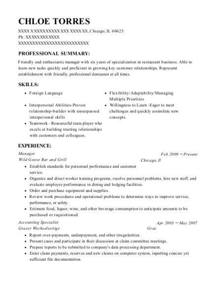 Best Accounting Specialist Resumes | ResumeHelp