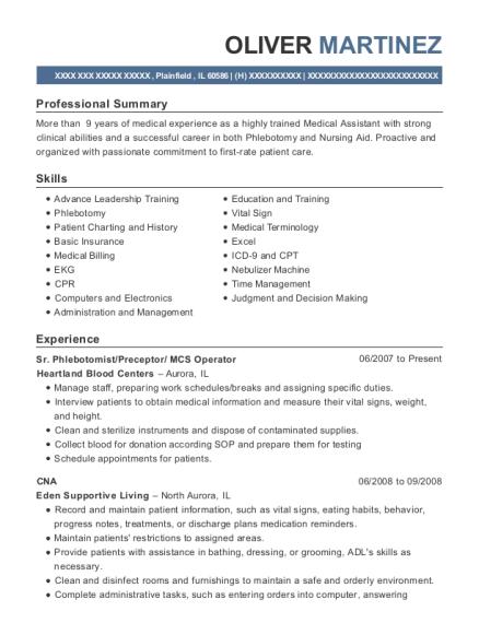 cpcu preceptor resume sample