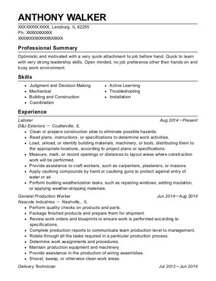 best general production worker resumes resumehelp