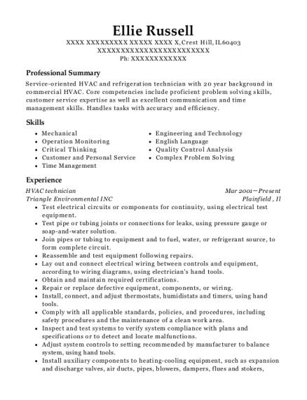 Best Refrigeration Technician Resumes | ResumeHelp