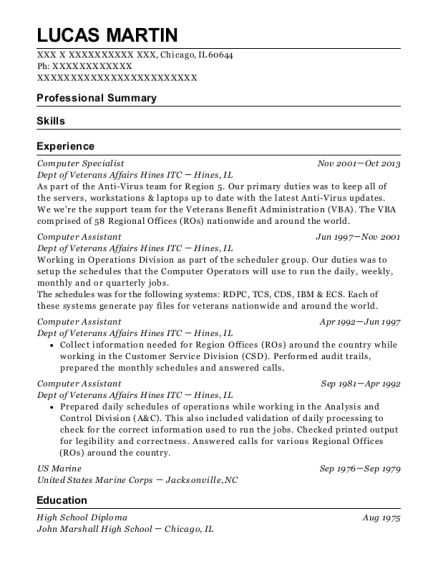 computer assistant resumes