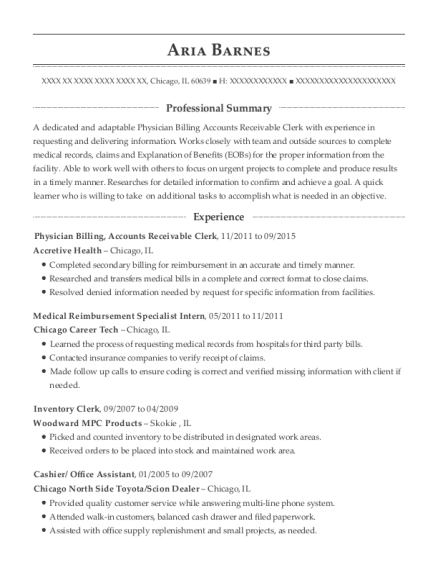 ... Medical Reimbursement Specialist Intern. Customize Resume · View Resume