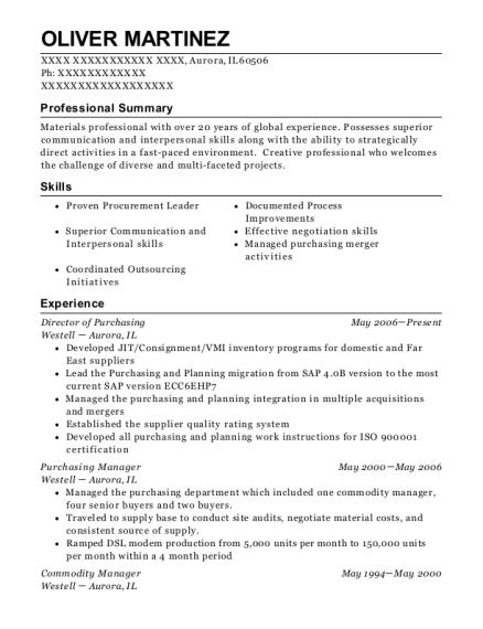 Best Commodity Manager Resumes | ResumeHelp
