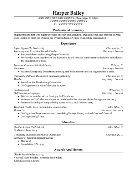 fraternity resumes