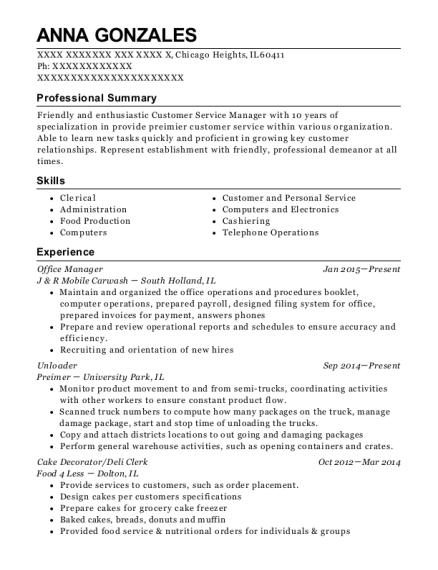 view resume - Deli Clerk Resume