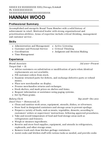 Best Brand Associate Resumes | ResumeHelp