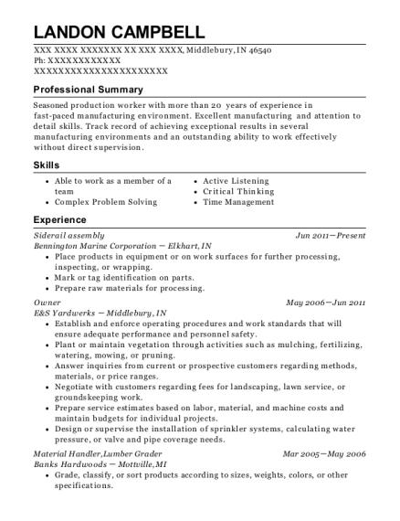 best lumber grader resumes resumehelp