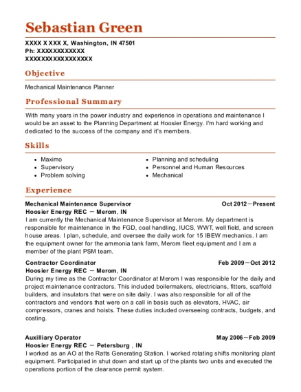 Johnstown Wire Technologies Mechanical Maintenance Supervisor Resume ...