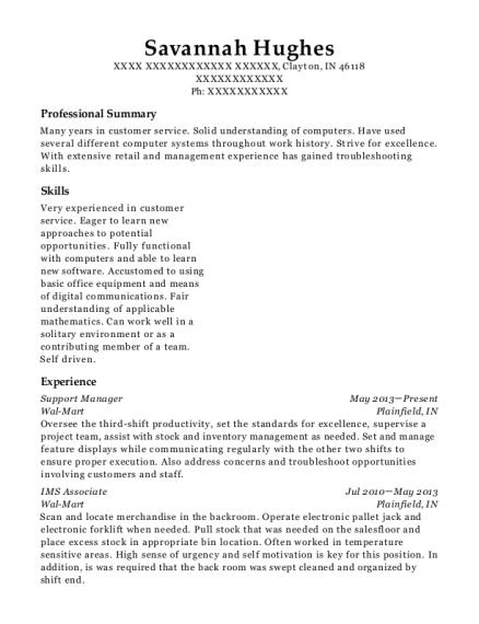meijer overnight grocery stocker resume sample