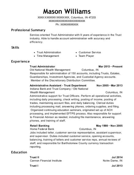 Best Trust Administrator Resumes   ResumeHelp