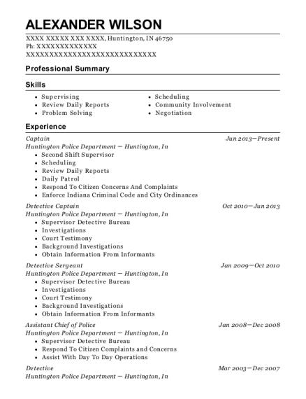 Best Assistant Chief Of Police Resumes | ResumeHelp