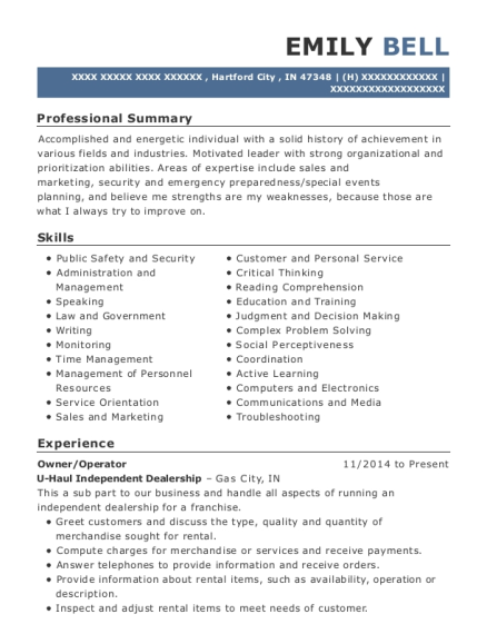 Route Pest Control Technician Customize Resume View