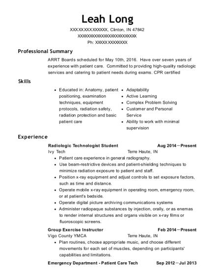 best radiologic technologist student resumes resumehelp