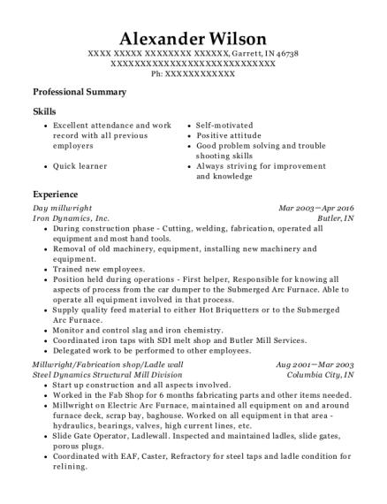 millwright resume example resume sample millwright damn good