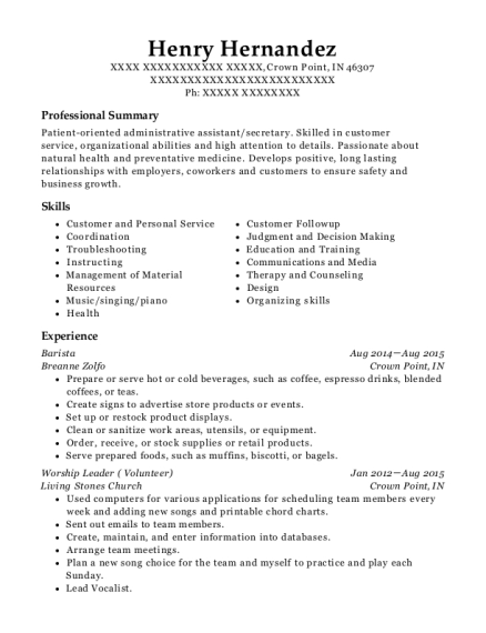 Best Part Time Event Coordinator Resumes | ResumeHelp