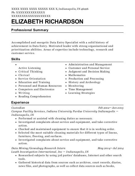 research intern resume