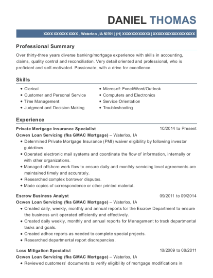 bank reconciliation resume