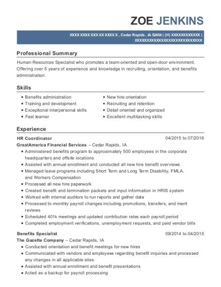 Best Senior Hiring Specialist Resumes