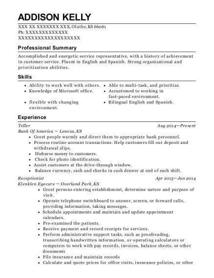 Addison Kelly  Walmart Resume Paper