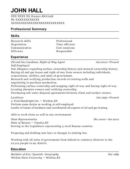 Right Of Way Agent Resume Resume Ideas
