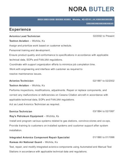 Best Avionics Bench Technician Resumes ResumeHelp