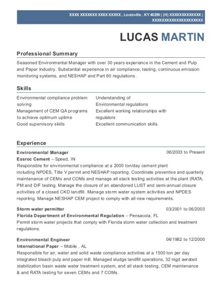 Best Environmental Engineer Resumes | ResumeHelp
